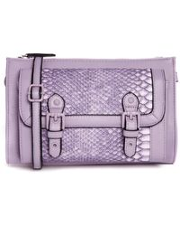 Asos Snake Satchel Bag with Enamel Buckles - Lyst