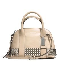 Coach Bleecker Mini Preston Satchel in Studded Leather - Lyst