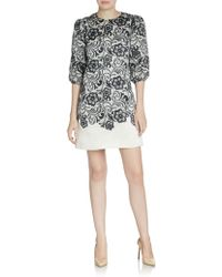 Dolce & Gabbana Organza  Lace Shift Dress - Lyst