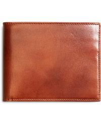 Brooks Brothers Burnished Leather Wallet - Lyst