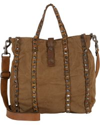 Campomaggi Studded Small Shopper Tote - Lyst