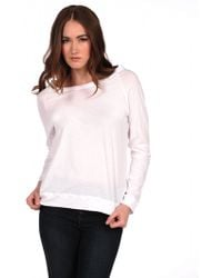 Majestic Cotton Long Sleeve Sweatshirt - Lyst