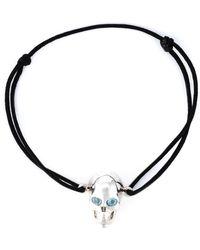 Leivan Kash - Topaz Eyes Skull Bracelet - Lyst
