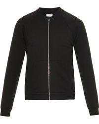 Saint Laurent | Zip-Up Cotton Sweatshirt | Lyst