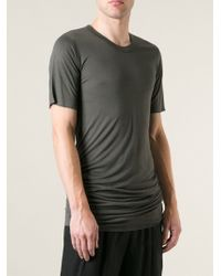 Rick Owens Gray Long T-shirt - Lyst