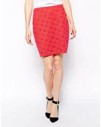 Aryn K. Lace Bodyconscious Skirt - Lyst