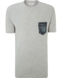 Diesel Denim Pocket T Shirt - Lyst