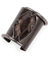Lanvin - Vertical Quartz Cuff Bracelet - Lyst