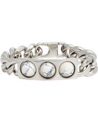 Balenciaga - Stud Id Bracelet-Colorless - Lyst