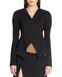 Donna Karan New York Wrap Jacket - Lyst