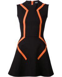 Y-3 Black Flare Dress - Lyst