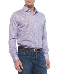 Etro Smallpaisleyprint Sport Shirt Light Purple - Lyst