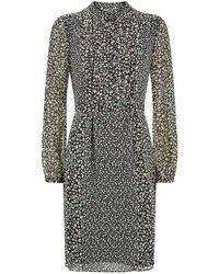 Burberry Brit - Printed Silk Dress - Lyst