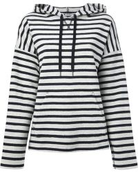 T By Alexander Wang Striped Hoodie - Lyst