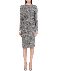 Vivienne Westwood Anglomania Rixon Tie-Detail Jersey Dress - For Women gray - Lyst