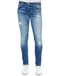 J Brand Mick Destructed Stretch Denim Jeans - Lyst