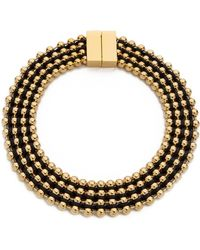 Bex Rox | Frida Collar Necklace Goldblack | Lyst