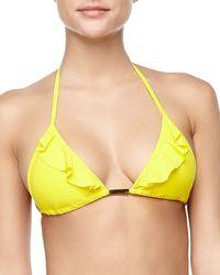 Vix Ruffled Triangle String Bikini Top - Lyst