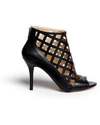 Michael Kors | 'yvonne' Cutout Leather Open Toe Caged Booties | Lyst