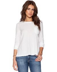 James Perse A-line Pocket Tee - Lyst