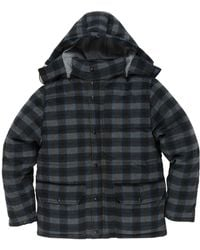 Grayers - Timber Wool-blend Check Down Jacket - Lyst