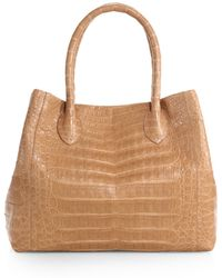 Nancy Gonzalez Small Crocodile Expandable Tote - Lyst