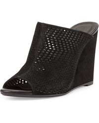 Joie Kellie Perforated Wedge Mule - Lyst