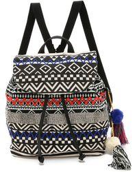 Sam Edelman Bella Backpack - Black/White - Lyst