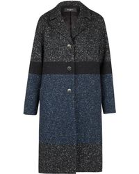 Paul Smith Black Label - Black Contrast Wool And Silk-blend Tweed Coat - Lyst