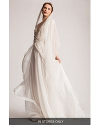 Temperley London | 'rosalind' Embellished V-neck Chiffon Gown | Lyst