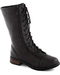 ModCloth Zip Right Up Boot in Black - Lyst