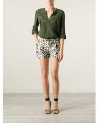 Diane von Furstenberg 'Naples' Leopard Print Shorts - Lyst