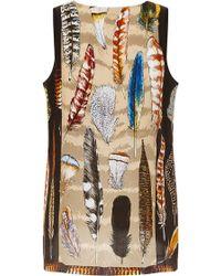 Swash London - Plumage Leopard Classic Silk Vest - Lyst