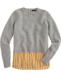 J.Crew Lambswool Shirttail Sweater in Stripe - Lyst