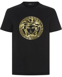 Versace Luxe Embroidered Medusa T-shirt - Lyst