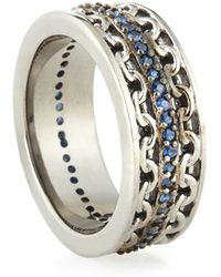 Stephen Webster - Mens Silver Ring With Blue Sapphire - Lyst