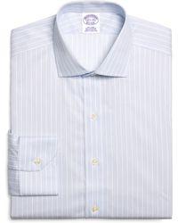 Brooks Brothers Supima Cotton Noniron Regular Fit Spread Collar Twill Alternating Music Stripe Luxury Dress Shirt - Lyst