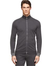 Calvin Klein Full-Zip Colorblocked Jacket - Lyst