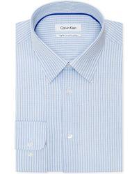 Calvin Klein Pond Checked Dress Shirt - Lyst