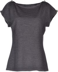 Alberta Ferretti Short Sleeve Sweater - Lyst