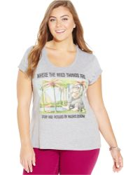 Out Of Print - Plus Size Where The Wild Things Are Graphic Tee - Lyst