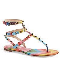 Valentino Women'S 'Rockstud' Thong Sandal - Lyst