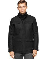 Calvin Klein | 4-pocket Wool-blend Coat | Lyst