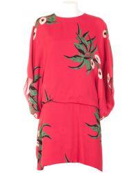 Marni Red Tunic Dress Viscose Crepe - Lyst