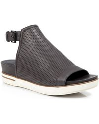 Eileen Fisher Open Toe Sandals - Perforated Leather - Lyst