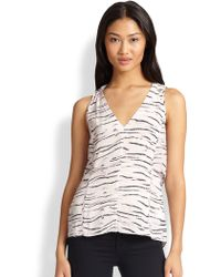 Rebecca Taylor Tiger-print Layered-tier Top - Lyst