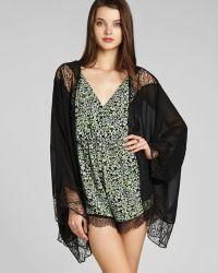 BCBGeneration - Kimono Cardigan High Low Lace - Lyst