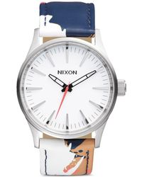 Nixon 'The Sentry 38 Leather' Watch multicolor - Lyst