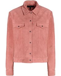Rag & Bone Pink Leather Outerwear - Lyst