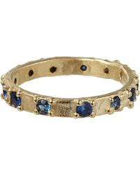 Ruth Tomlinson - Gold Sapphire Eternity Ring - Lyst